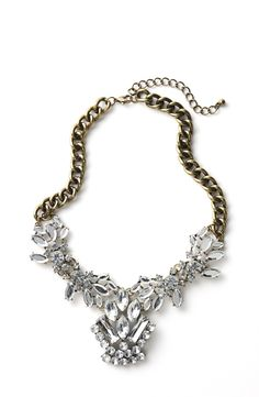 Oh, so lovely | Crystal cluster bib necklace.