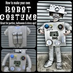Jude wants to be a robot for Halloween. Robot Costume Diy, Diy Robot, Easy Halloween Costumes, Halloween Fun, Costume Ideas, Robot Art, Fun Costumes, Homemade Costumes, Halloween Decorations