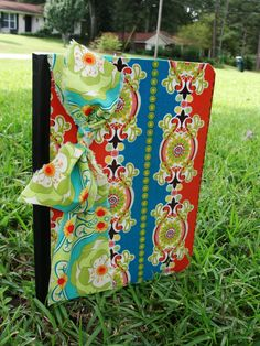 Love these fabric colored notebooks.  So easy and inexpensive.