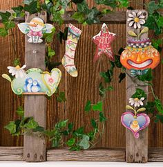 Seasonal Ornaments set of 6 by Cindy Mann Vitale - Decorative Painting Patterns from ArtistsClub.com