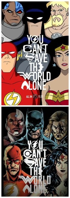 You can't save the world alone | Justice League art