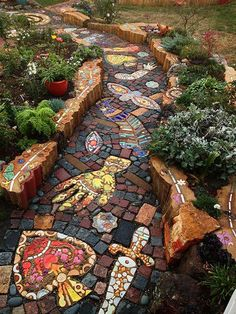 IMA Instructor Carol Bevilacqua's Installation Accepted Into MAI Exhibit! diy garden backyard IMA Instructor Carol Bevilacqua's Installation Accepted Into MAI Exhibit! Diy Garden, Dream Garden, Garden Paths, Garden Projects, Garden Edging, Spring Garden, Amazing Gardens, Beautiful Gardens, Mosaic Walkway