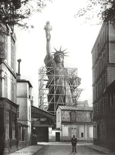 Statue of Liberty in Paris, 1886-construction of the gift in Paris before it was brought to the NYC harbor island