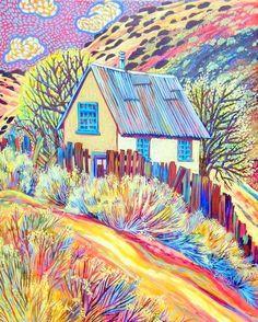 Madrid Road ~ Sally Bartos, New Mexico Artist