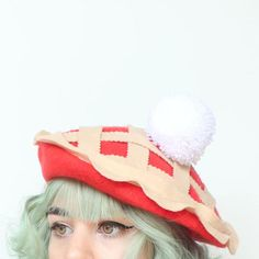 Cutie Pie Beret by Elleni the Label Cute Hats, Kawaii Clothes, Character Outfits, Kawaii Fashion, Aesthetic Clothes, Sewing Projects, Cool Outfits, At Least, Fashion Accessories