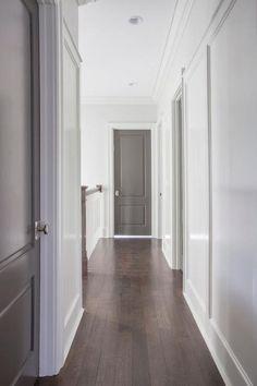 Gray painted interior door