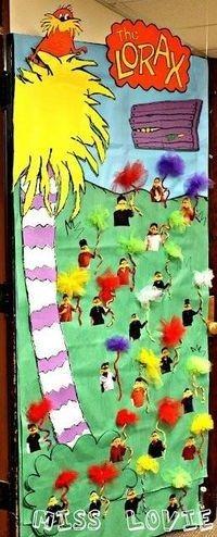 Dr. Seuss classroom decor.