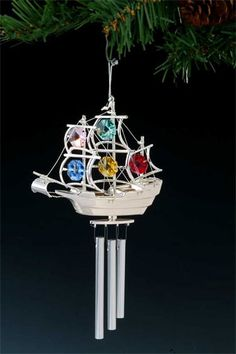 Silver Plated Wind Chime Mayflower