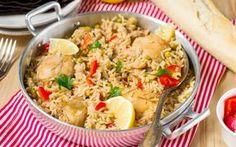 Delicious one pot chicken and rice (olivemagazine. One Pot Chicken, Chicken Rice, Fried Rice, Pasta Salad, Potato Salad, Food To Make, Cooking, Ethnic Recipes, Arroz Con Pollo