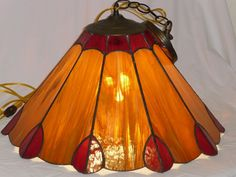 Vintage Leaded Glass Hanging Light by MyFrenchTexas on Etsy, $65.00