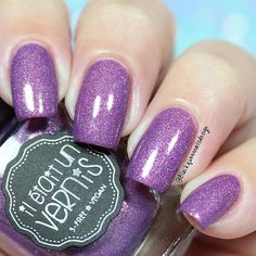 """Ana✨Nail Art-Tutorial-Swatches en Instagram: """" Crazy Little thing @iletaitunvernis this cute violet have colorful glitters, I love it! two coats without top coat #talesoflove #iletaitunvernis #blackqueennailsdesignswatches"""""""