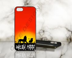 Hakuna Matata Siluet - Print on Hard Cover - iPhone 5 Case - iPhone 4 / 4s Case - Samsung Galaxy S3 case - Samsung Galaxy S4 case