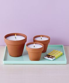 How to Make Your Own Adorable Candles in a Terracotta Pot | It takes just a few hours to craft your own votives.