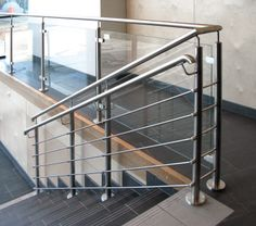 Our glass frame and round bar rails together in one application
