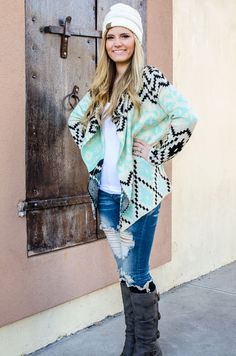 Mint To Be Cardigan - Forever Fab Boutique Forever Fab Boutique Fall Fashion Outfits for Fall #fallfashion #ootd #foreverfabboutique