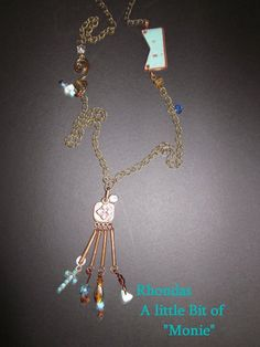 Memory Necklace: Little Bit of Monie for Rhonda