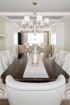 "A transitional style dining room by ""Parkyn Design""  www.parkyndesign.com"