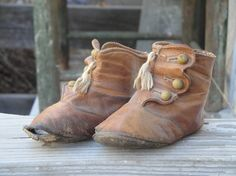 Victorian Baby Shoes With Tassels by kittredgemercantile on Etsy, $65.00