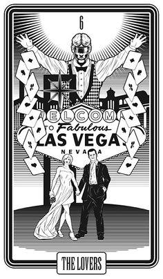 THE LOVERS - Las Vegas Tarot