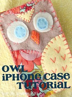A cute little owl iPhone cover to make.