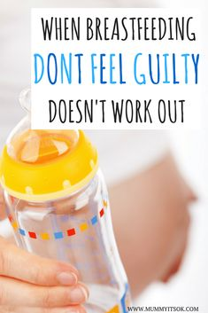 When Breastfeeding Doesn't Work Out Please Don't Feel Guilty. Bottle-Feeding is nothing to ashamed of - we are all doing our best. Fed Is Best.