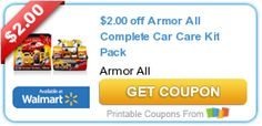 $2.00 off Armor All Complete Car Care Kit Pack