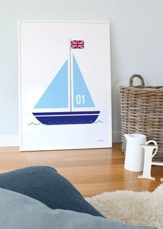 Boat Print   Boat Poster   Kids Wall Art   Showler & Showler