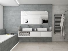 Moderní koupelna HELVETIA | Modern bathroom HELVETIA #bathroom #bath #design #bathroominspiration #koupelna #concrete #beton #woodfloor #drevo #perfectodesign @cz_perfecto Bathroom Interior Design, Home Interior, Toilet Design, Bath Design, Bathroom Colors, Bathroom Inspiration, Bathroom Bath, Modern Bathroom, My House