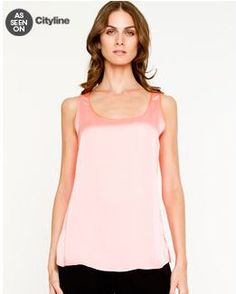 As Seen On CityLine. Le Chateau: Silk Hand Scoop Neck Blouse, $29.95