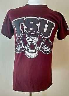 TSU Tigers T-Shirt Texas Southern University Size Small 100% Cotton Play Like It