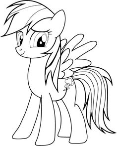 Rainbow Dash Coloring Pages Has Perfect Element To Give Your Kids Priceless Learning It Demands Wide Of Imagination