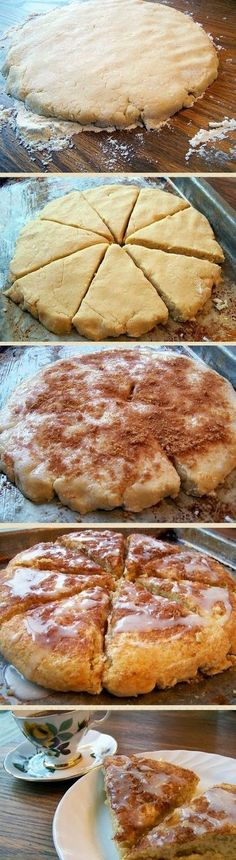 """Pinner said, """"These are the BEST! If you like scones, this is a MUST-TRY recipe! Pinner said, """"These are the BEST! If you like scones, this is a MUST-TRY recipe! Best Cookie Recipes, Baking Recipes, Bread Recipes, Scone Recipes, Yummy Recipes, Delicious Desserts, Diet Recipes, Yummy Food, Chocolate Chip Cookies"""