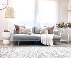 Living Room Designs, Living Room Decor, Living Spaces, Modern Interior, Interior Design, Nordic Living, Grey Rugs, Muted Colors, Scandinavian Design