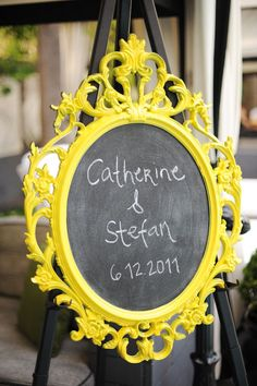 Wedding Welcome sighn - can paint frame to match wedding colors - half off Hobby Lobby Sale.