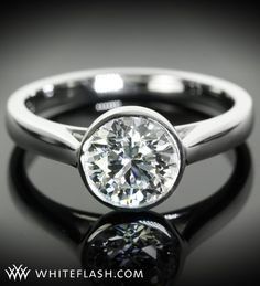 solitaire diamond engagement rings -