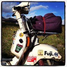 La #hippie en la ruta #vespa #Ecuador