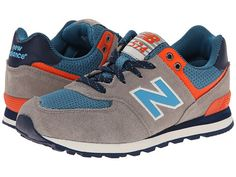 New Balance Kids KL574 (Little Kid) Brown/Blue - Zappos.com Free Shipping BOTH Ways