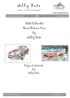 Bike, boat and cars calendar by Ally Tate £4.99