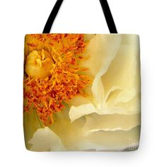 New Art New Photos Best Photography Pittsburgh Photographer Canvas Prints Tote Bag featuring the photograph White Peony, St. Patrick's Gardens, Pittsburgh, Pa by Len-Stanley Yesh
