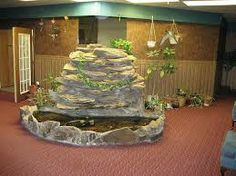 Love the rock wall above the pond. Indoor Pond, Rock Wall, The Rock, Pond Ideas, Ponds, Cake, Desserts, Google Search, Tailgate Desserts