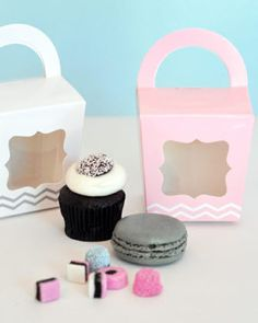 Cupcake 'n' Treats Tote Boxes