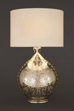 Buy Large Etched Mercury Glass Table Lamp from the Next UK online shop Bedside Table Lamps, Bedroom Lamps, Mercury Glass Lamp, Next Sale, Table Desk, Outdoor Lighting, Glass Table, Indoor Outdoor, Lights