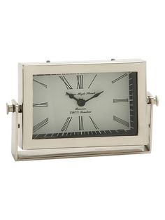 Rectangular Table Clock by UMA at Gilt
