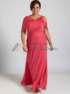 Elegant and sophisticated plus size mother of the bride dress