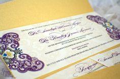 Gorgeous Indian Wedding Invitation Henna Pattern by SDezigns