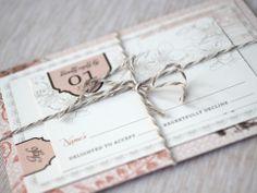 Oh So Beautiful Paper: Deanna + Ben's London Skyline Wedding Invitations