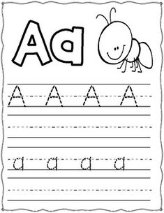 Trace the Alphabet by Learning Palace Preschool Workbooks, Preschool Writing, Preschool Learning Activities, Preschool Lesson Plans, Kindergarten Worksheets, Alphabet Writing Worksheets, English Worksheets For Kids, Alphabet Worksheets, Letter T Words
