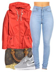 """February 18, 2k15"" by xo-beauty ❤ liked on Polyvore featuring H&M, Louis Vuitton, Rolex and NIKE"