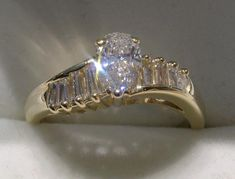 Gorgeous Pear & Baguette Cut Diamond Engagement Ring Buy Diamond Ring, Best Diamond, Diamond Wedding Rings, Diamond Engagement Rings, Diamond Jewelry, Diamond Cuts, Real Gold Jewelry, Vintage Jewelry, Antique Jewelry