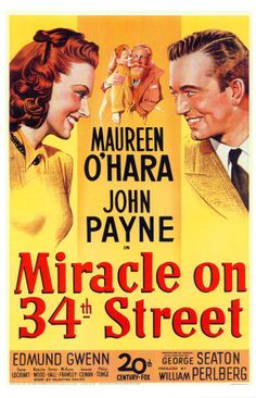 miracle on 34th street - true classic, no matter how many times, a must watch for every holiday season. :)